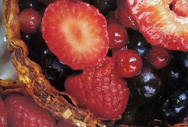 Summer Berries in Spiced Fillo